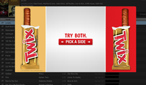 Nice try twix but that Is the same side