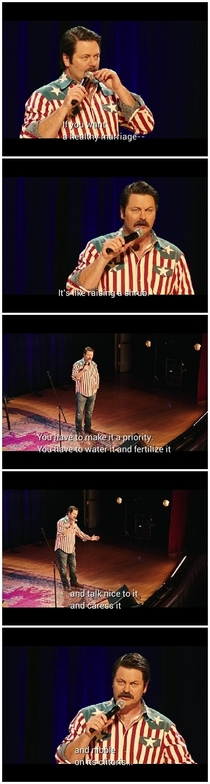 Nick Offerman on healthy marriages