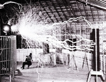Nikola Tesla in his lab Probably one of the most jawdropping photos of the troubled genius