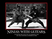 Ninjas playing guitar are the epitome of awesome