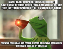 No fucking bailouts If you didnt learn your lesson in  too bad