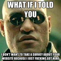 No I dont want to take the survey