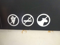 No ice cream no smoking unicorn OK