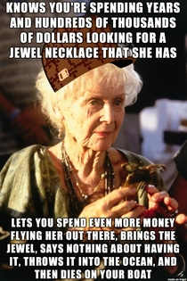 No one was more of a scumbag than Rose from Titanic