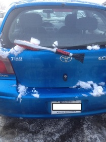 No wiper replace it by a snow broom