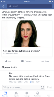 No youre still a prostitute