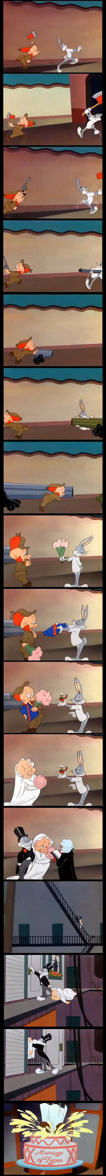Nobody can escalate quicker than classic Looney Tunes