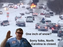 North Carolina is getting snow again