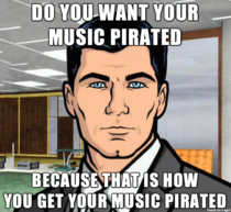 Not condoning it but when I hear about artists taking their music off Spotify