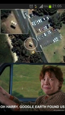 Not even you can hide Ron