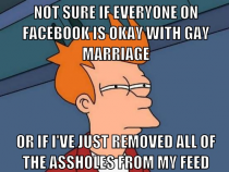 Not one of my conservative friends on Facebook is bashing the Supreme Court for todays DOMA and Prop  rulings