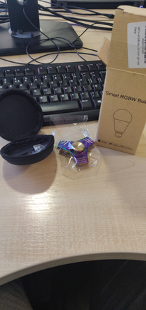 Not sure if this belongs here but i ordered a smart light bulb and got a chrome fidget spinner in a light bulb box