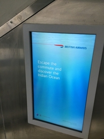 Not the best time for British Airways to run this ad