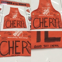 Noticed this checking out at Home Depot good on ya Cheryl