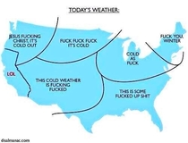 Now for todays US weather