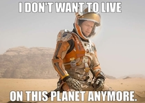 Now that images of Matt Damon in the upcoming The Martian have been released I couldnt resist