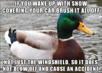 Now that snow has started and I commute every morning using the interstate