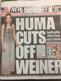 NY Post crushes another cover title