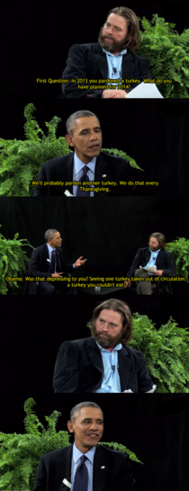Obama burns Zach on Between Two Ferns