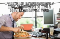 Office etiquette with regards to ones lunch hour