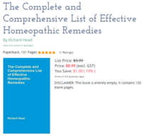 Oh look Richard Head has published a new book about Homeopathy