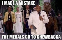 Oh That explains Chewbaccas missing medal in A New Hope