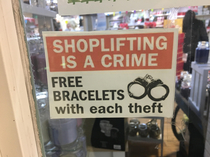 Oh wow free bracelets with each and every theft what a deal