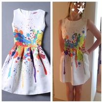 Oil Splatter Dress