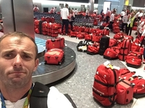 Olympic athletes all given the same bag