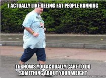 On Fat People Running