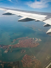 On the flight home from Venice i noticed something Fishy