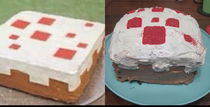 On this weeks episode of Nailed It Minecraft Cake