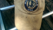 One of my campers has a totally legit signed Babe Ruth hat