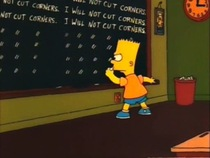 One of my favorite chalkboard antics from Bart