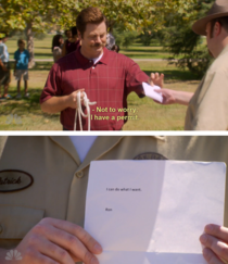 One of my favorite Ron moments from Parks amp Rec