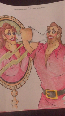 One of the best posts of all time on rcoloringcorruptions What Gaston does when hes home alone