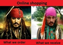 online shopping vs reality