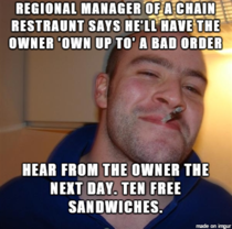 Ordered a sandwich that was delivered with half the meat no cheese and three mysterious hairs Complained online and then was greeted with fantastic customer service