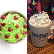 Ordered the Minty Who Hot Chocolate at ihop What it was advertised as vs what she got