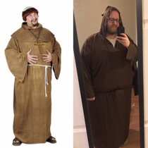 Ordered this friar costume for a Renaissance Fair I ended up with a Darth Fatter costume