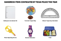 Other items bravely confiscated by Texas police
