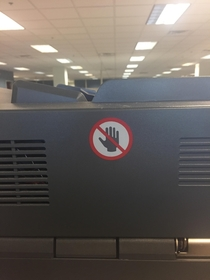 Our copier does not allow high fives