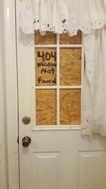 Our house was broken into last week we decided to at least find some humor in it