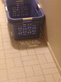 Our laundry basket is foretelling the arrival of Christmas