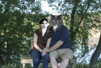 Our pet-sitter who is also a photographer took our engagement photo We came across this in the album