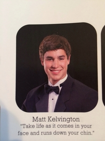 Our principal is a little upset about my friends senior quote