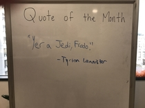 Our Quote of the Month at Work