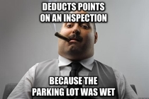 Overheard this gem at a fast food chain while it was raining heavily outside