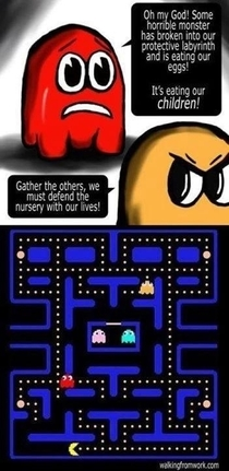Pacman is a monster