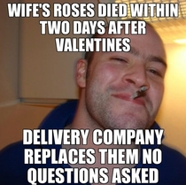 Paid over  for flowers to be delivered to my wife The company replaced them when I mentioned they all died two days later
